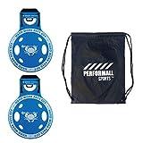 ECD Lacrosse Shooting Target 2-Pack East Coast Dyes Corner Pocket Target 2 Blue Bundle with 1 Performall Sports Bag