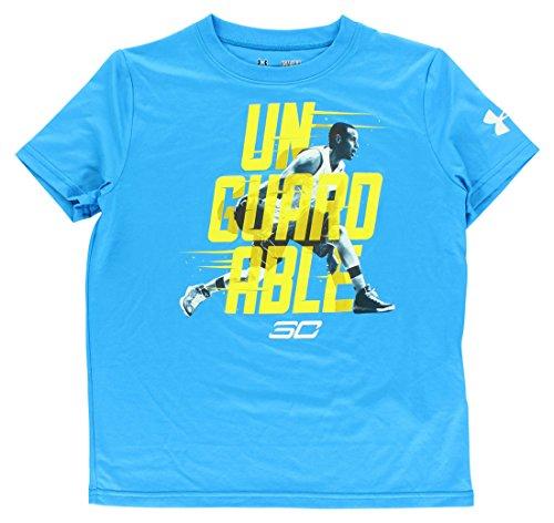 Electric Kids T-shirt (Under Armour Boys' SC30 Unguardable T-Shirt Small / 8 Big Kids ELECTRIC BLUE)