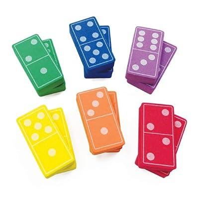 EAI Education QuietShape Foam Double-Six Dominoes: Colors - 6 Sets of 28: Toys & Games