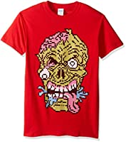 FREEZE Men's Pixelated Halloween Zombie T-Shirt, Red, X-Large