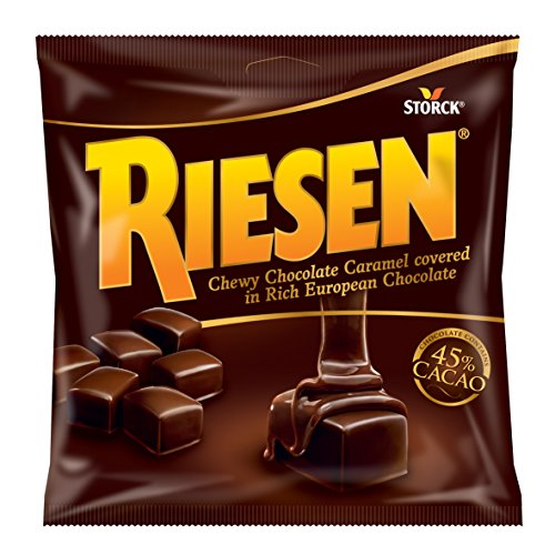 Storck Riesen Chewy Caramels, Chocolate, 2.65 oz -