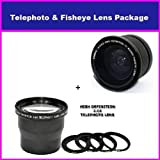 3.5X HD Professional Telephoto lens & 0.35x HD Super Wide Angle Panoramic Macro Fisheye Lens For Sony Alpha DSLR A200 A230 A300 A350 A700 A100K A100 A900