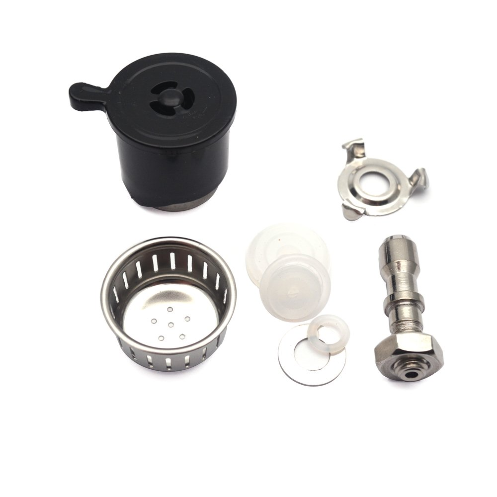 Sydien Kitchen Pressure Cooker Cap Relief Jigger Valve Ventilate Nob Head with Exhaust Rod, Anti Blocking Cover, Bracket, Sealing Ring and Gasket