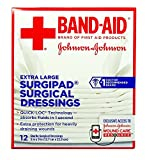 Johnson & Johnson Red Cross Surgipad Surgical Dressings, 5 Inch x 9 Inch, 12 Count (Pack of 2)