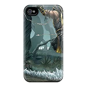 CasePete Iphone 4/4s Well-designed Hard Case Cover Sub Zero Vs Scorpion Protector