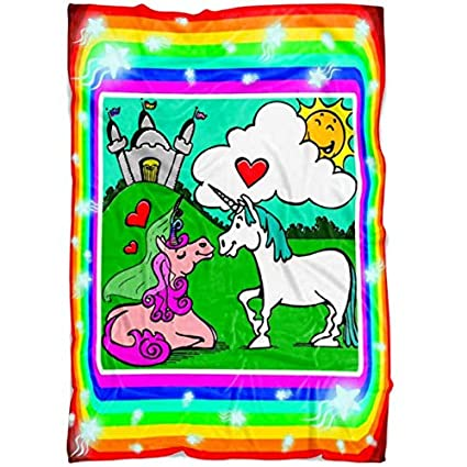 Amazoncom Kyrola Ltd Unicorn Throw Blanket Unicorns In Love