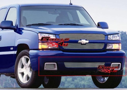 (APS Compatible with 2003-2006 Chevy Silverado 1500 SS Billet Grille Combo S18-A54978C)