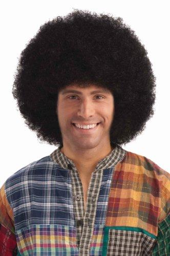 Forum Novelties Men's Deluxe Afro Wig, Black, One -