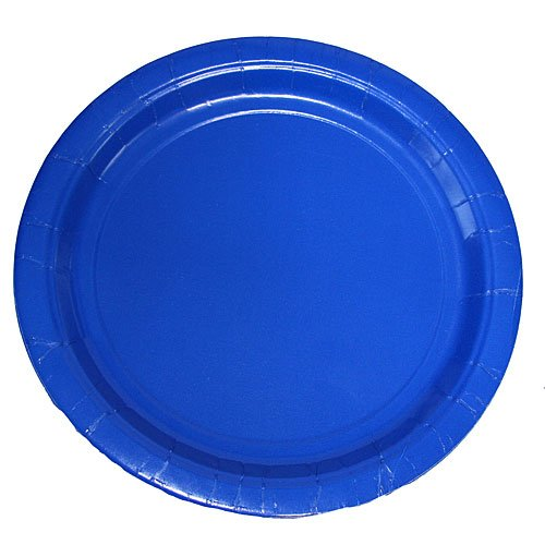(75-Count Value Pack Paper Dinner Plates, True Blue)