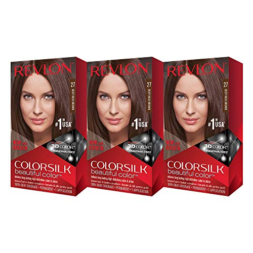 Revlon Colorsilk Beautiful Color, Deep Rich Brown, 3 Count