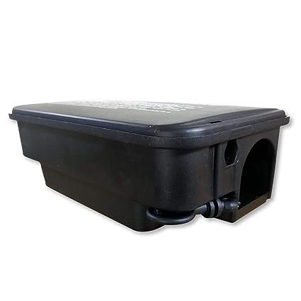 Caja de plástico con cierre con llave - Para asegurar el veneno contra las ratas