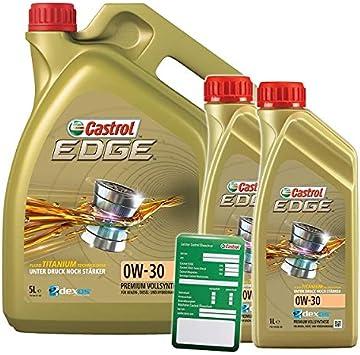 2x 1 L 5 L 7 Liter Castrol Edge Fluid Titanium 0w 30 Motoröl Inkl Castrol Ölwechselanhänger Auto