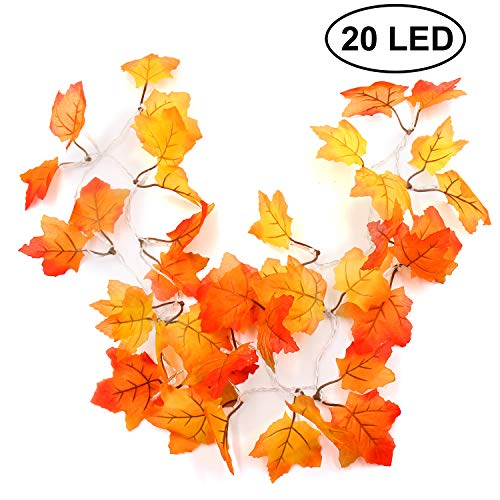 Thanksgiving Decorations Lighted Fall Garland, Thanksgiving Decor Halloween String Lights 8.2 Feet 20 LED, Fall decor, Fall decorations