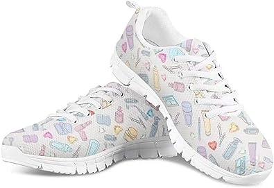POLERO - Zapatillas de deporte para hombre y mujer, transpirables, con cordones y diseño de dibujos animados, 35-48 EU, color, talla 38 EU: Amazon.es: Zapatos y complementos