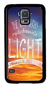 The Lord Turns My Darkness Into Light Black Hard Case Cover Skin For Samsung Galaxy S5 I9600