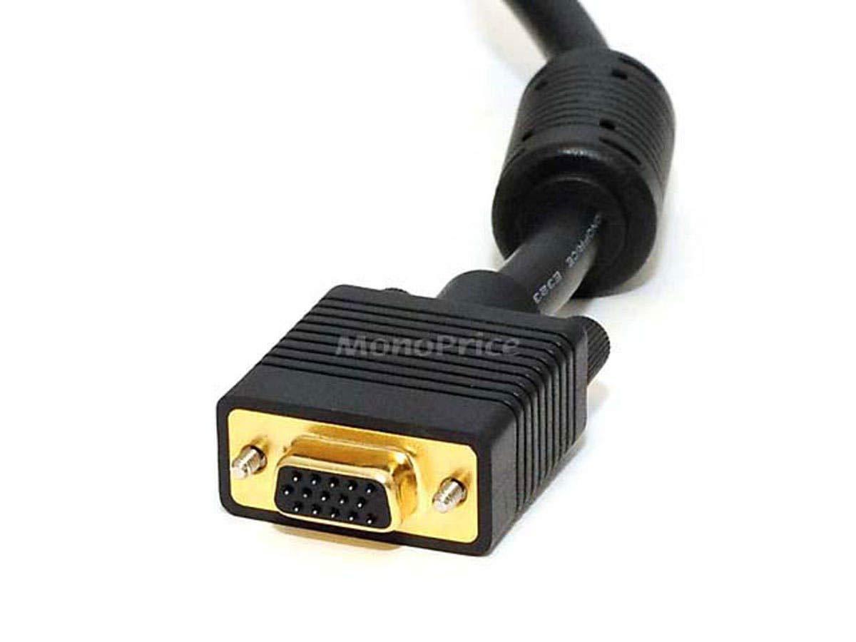 Monoprice 6ft SVGA Super VGA M//F Monitor Cable w// ferrites