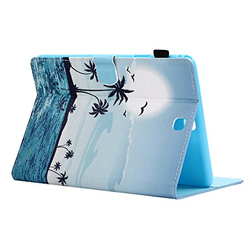 Hülle für Galaxy Tab A 9.7 T550, Asnlove Flip Folio Hülle PU Leder Cover Case Stand Schutzhülle Flip Etui Tasche Book Smart Case Cover mit Auto Sleep Wake up / Standfunktion für Samsung Galaxy Tab A 9 Sonnenaufgang