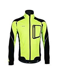 Full Zip Jacket Jersey for Cold Weather Waterproof Wind Coat Outfit Breathable Yellow XL