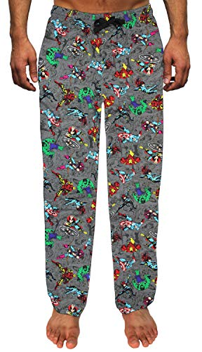 Marvel Avengers Sleep Pants All Over Print Men's Pajamas (X-Large) Grey