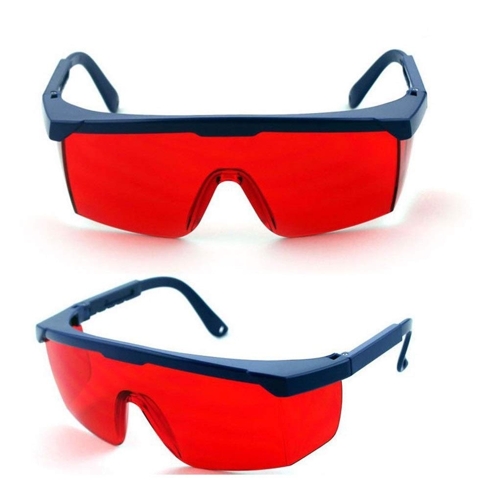YUANYUAN521 Laser Safety Glasses 190nm-1200nm Welding Laser IPL Beauty Medical Instrument Elight Protection Eyewear Eye Protective Glasses (Color : Red) by YUANYUAN521