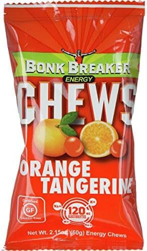 Bonk Breaker Energy Bars Chews Tangerine Orange, Indivual Pack - Men's, Net Wt. 2.15oz (60g)