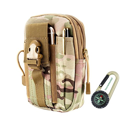 DOUN Outdoor Tactical Holster Universal Multipurpose Tactical Cover EDC Security Pack Carry Case Pouch Belt Waist Bag for iPhone 7 plus Samsung LG HTC Sony Smartphone (CP camouflage)