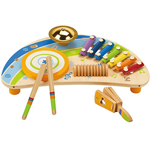 Hape Award Winning Mighty Mini Band Wooden Percussion (Mini Percussion)