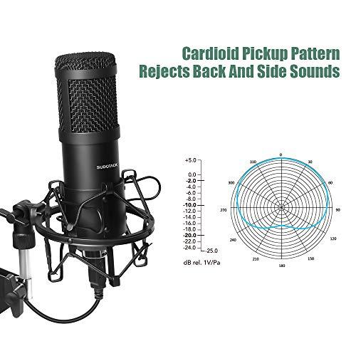 broadcast USB Mikrofon,PC Laptop Mikrofon Kondensator mikrofone Plug /& Play f/ür podcast streaming recorder studio video youTube