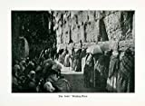 1915 Print Judaism Wailing Western Wall Jerusalem Temple Mount Tradition Jewish - Original Halftone Print