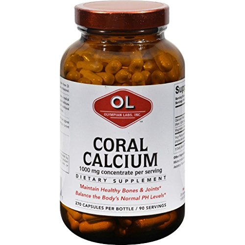 Olympian Labs Coral Calcium - 1 g - 270 Capsules by USA