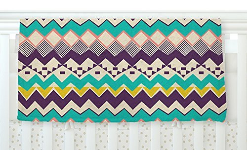 KESS InHouse Louise Machado Ethnic Color Teal Purple Fleece Baby Blanket 40 x 30 [並行輸入品]   B077ZQ876T