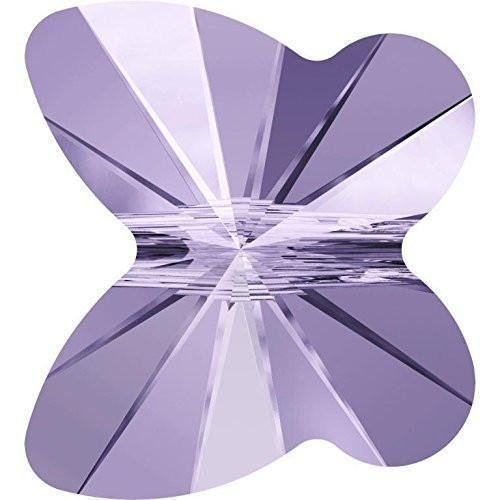 5754 Swarovski Crystal Beads Butterfly 6-8mm | Violet | 8mm - Pack of 20 | Small & Wholesale Packs