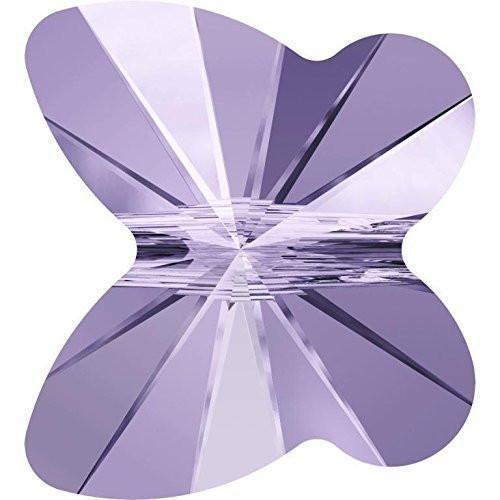 Swarovski Round Charm - 5754 Swarovski Crystal Beads Butterfly 6-8mm | Violet | 8mm - Pack of 20 | Small & Wholesale Packs