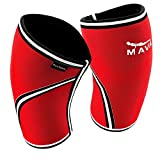 Mava Knee Sleeves Recommended for Powerlifting, Cross Training, Gym Workouts, Weight Lifting & Fitness Activity – Support Without Stiffness - Built to Last – Pair