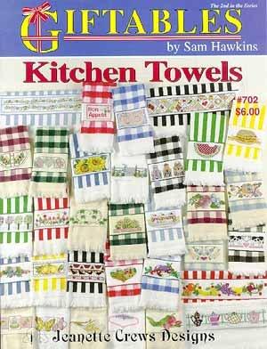 Kitchen Towels (Hawkins) - Cross Stitch Pattern - Kitchen Towel Patterns