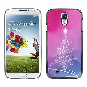 YOYO Slim PC / Aluminium Case Cover Armor Shell Portection //Christmas Holiday Pink Tree Star 1216 //Samsung Galaxy S4