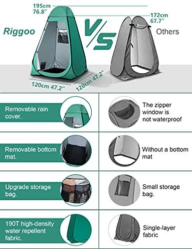 51MrYDp1kvS Camping Toilettenzelt riggoo Duschzelt Pop Up Umkleidezelt Privatsphäre Toilette Umkleidekabine Lagerzelt Mobile Outdoor…