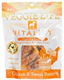 Dogswell Veggie Life Vitality Chicken and Sweet Potato Treats for All Dogs, 5-Ounce Pouches (Pack of 6), My Pet Supplies