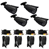 Cheap iSmart C1010DP7 CMOS 4 Pack IR Bullet Security Outdoor Weatherproof 700TVL CCTV Surveillance Camera 4 pack