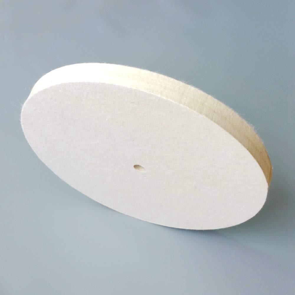 Mercury_Group, Abrasive Tools - 10'' / 12'' Buffing Wool Felt Wheel for Metal Wood Glass Plastic Fine Polishing - (Size:12 inch 300mm)