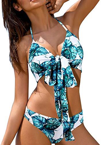 ZD Z-DEAR THE BEST LOVE Women's Sexy Low Waist Bandage Bikini Beachwear Swimsuit Black-XL