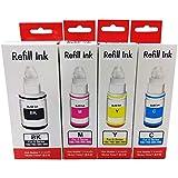 Kit Colorido de Tinta Compatível para impressora Canon G1000 G2000 G3000 G1100 G2100 G3100 G3102 G1800 G2800 G3800 G1900 G2900 G3900