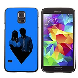 GagaDesign Phone Accessories: Hard Case Cover for Samsung Galaxy S5 - Music Couple