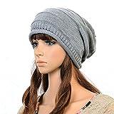 (GRAY)Hot Winter Hats For Women Man Knit Hat Beret Skull Cap Ski Sport Knitted Beanie