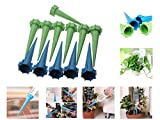 JTW- 12 pcs Garden Automatic Cone Watering Spike Bottle Irrigation Tips water straight to the plants roots fast grow Plastic L13 cm,dai 3cm green Blue color