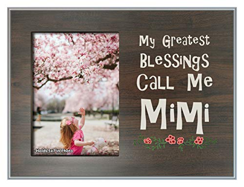 ThisWear Mimi Gifts My Greatest Blessings Call Me Mimi Family Frame Wood Photo Plaque Picture Frame Wood