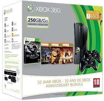 Microsoft 250GB Xbox 360 Slim + Halo - juegos de PC (Xbox 360, IBM