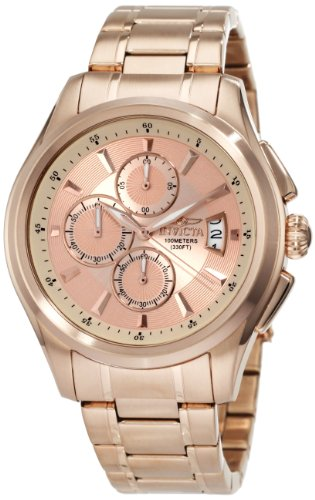 Invicta Men's 1485 Specialty Collection Chronograph Rose Dial 18k Rose Gold Ion-Plated Stainless Steel (Chronograph 18k Rose)