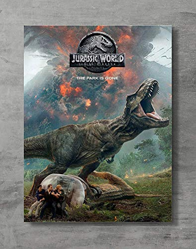 - Jurassic Word Poster,Jurassic Movie Canvas Print Wall Art Posters Print,Standard Size 18x24 Inches