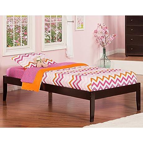 Atlantic Furniture Concord Espresso Wood Rubberwood Twin Open Foot Bed